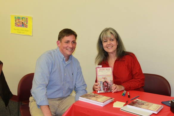 Rob Peecher and Melissa Bowden at Library book signing.