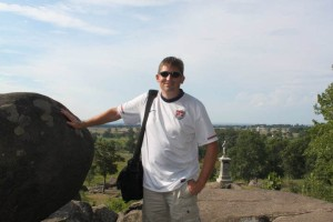 From Little Round Top at Gettysburg, overlooking the wheat field and peach orchard.