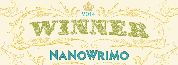 I'm not doing NANWRIMO this year, but I won it last year and finished out Jackson Speed at the High Tide.