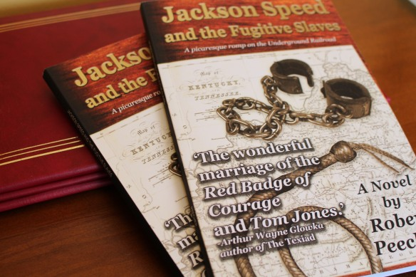 "First released only as an ebook, ""Jackson Speed and the Fugitive Slaves"" is now available in print as well."